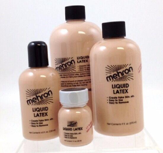 Mehron Light Flesh Liquid Latex TV Movie Special Effects Fake Skin Make Up 30ml