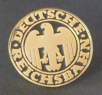 Pin/ Anstecker DRG Deutsche Reichsbahn schwarz/ gold 2cm