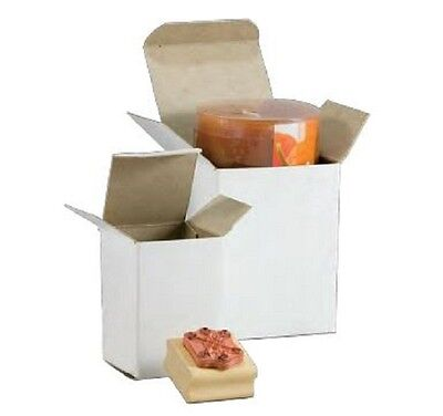 3 X 3 X 4 White Gift Box Inner Packaging Reverse Tuck In Bulk 500lot