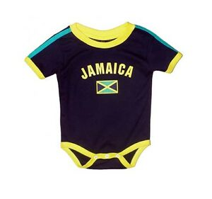 Jamaica Baby Bodysuit 100 Cotton Soccer Country Flag T