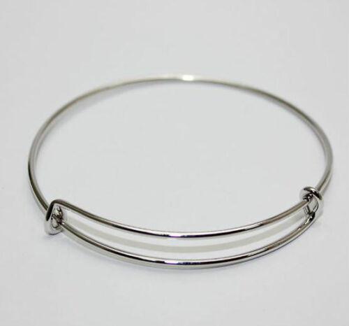 wholesale expandable wire bangle bracelet adjustable gold