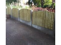 🛠Excellent Quality Arch Top Feather Edge New Fence Panels