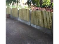 🛠Excellent Quality Arch Top Feather Edge New Fence Panels new