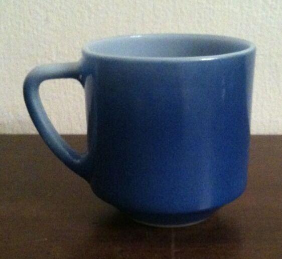 Vintage Federal Milk Glass Blue Coffee Mug Same Look As Fire King