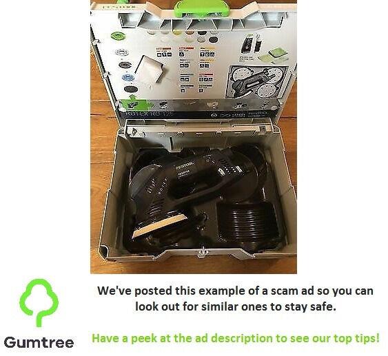 Festool ro125 eccentric sander 240v -- Read the ad description before replying!!!