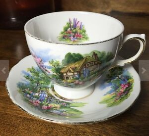 """1950's Royal Vale """"Country Cottage"""" tea cup and saucer Peterborough Peterborough Area image 1"""