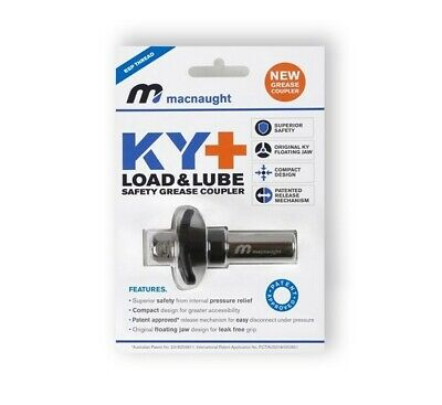 Macnaught KY+ One-Handed Safety Grease Coupler Load&Lube Smallest Diameter Bore