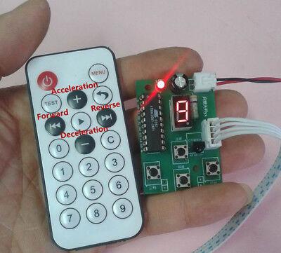 Dc 4-6v 5v 2-phase 4-wire Micro Stepper Motor Driver W Remote Controller Cw Ccw