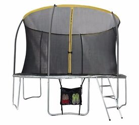 Sportspower 12ft Trampoline with Folding Enclosure Bundle 127.