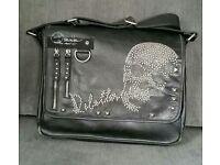 River Island Black Leather Skull Shoulder Bag