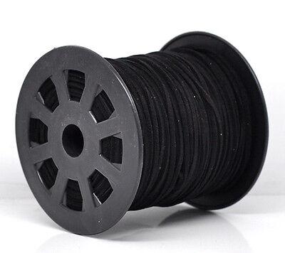 5m Suede Effect Black Cord 2.5mm Width Velvet Ribbon J13075