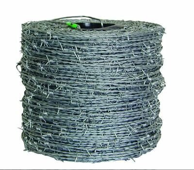 1320 Ft. 15.5 Gauge 4-point High-tensile Cl3 Barbed Wire Galvanized Fencing New