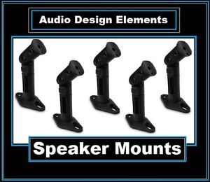5-Pack-Black-Speaker-Wall-Ceiling-Mount-Brackets-For-Home-Theater-Surround-Sound