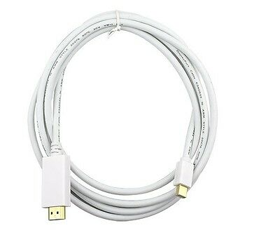 Cable Adaptador 1,8m Mini Displayport A HDMI Para Mac, Soporte Audio