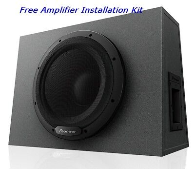 Pioneer Ts Wx1210a 1300 W Max 12  Sealed Enclosure Active Subwoofer Built In Amp