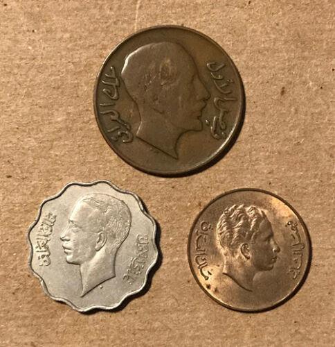 Iraq - (3) Nice Earlier Coins (1931, 1938, 1953)