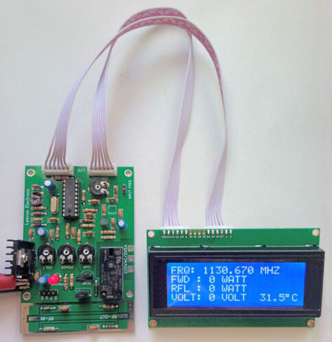 Frequency Meter 30-1400 MHZ, Forward Reflected Power Temperature Volt Meter SWR
