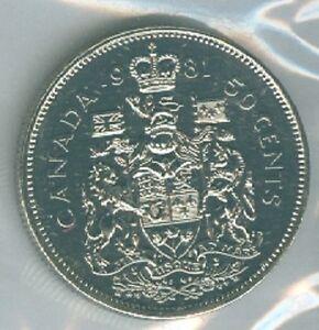 1981 Fifty Cent Half Dollar 81 Canada Canadian Bu Coin Unc Rcm Proof Like Pl Ebay
