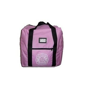 Pink Ladies Firefighter Step-in Turnout Fire Gear Bag With Maltese Cross New