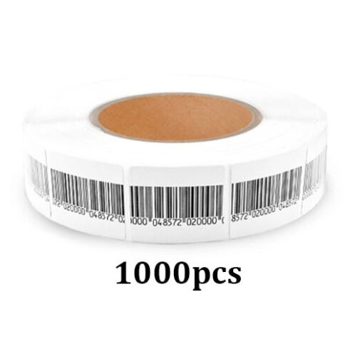 EAS ANTI-THEFT CHECKPOINT SECURITY SOFT LABEL TAG 1000PCS RF 8.2 MHZ (40MMX30MM)