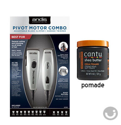- ANDIS CLIPPER, TRIMMER AND CANTU MEN POMADE 8oz SET