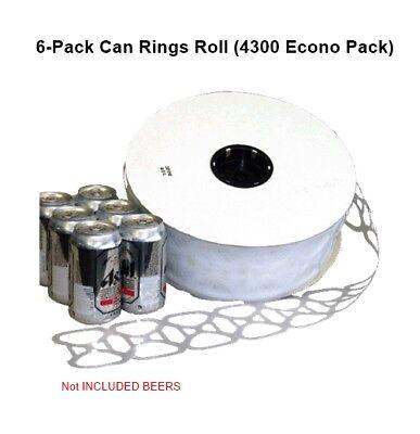 6 Pack Can Rings Roll Reel 4300 Cs