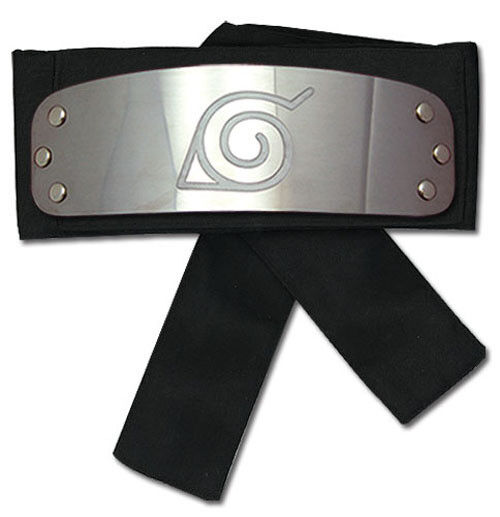 REAL  Great Eastern GE-8676 Naruto Shippuden Leaf Village Logo Headband (Black)