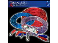 20 mm² Kabel SATZ  Car-Hifi Auto Kabel 6 METER STROMKABELOFC-KUPFERKABEL blau