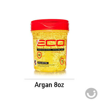 - ECO STYLER ARGAN OIL STYLING HAIR GEL MAX HOLD ALCOHOL FREE 8 OZ