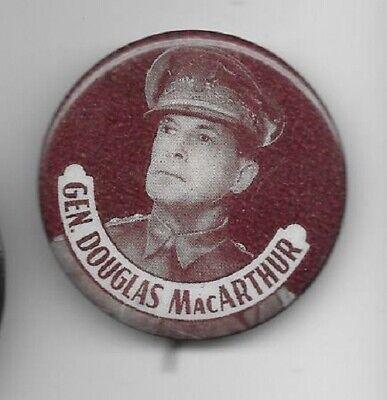 Gen. Douglas MacAuthur picture pinback button pin