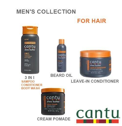 CANTU MEN'S HAIR SET, SHAMPOO, BODY WASH/POMADE/CONDITIONER/