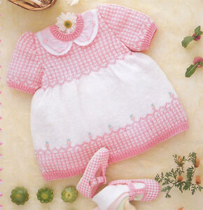 Knitting-pattern-Baby-Girl-4-ply-dress-Pattern-fits-age-3-18-months