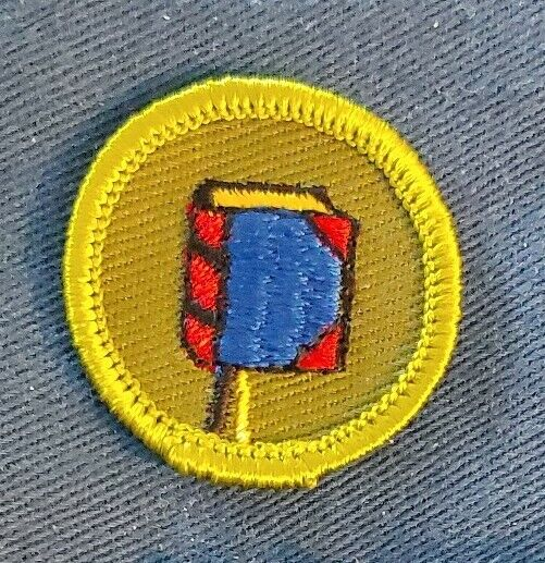 BSA BOOKBINDING WITH  BOOKMARK - MINT - Merit Badge Type F (1966-68)  A00092A