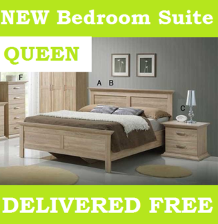 BRAND NEW Queen Size Bedroom Suite 4 Piece - DELIVERED FREE