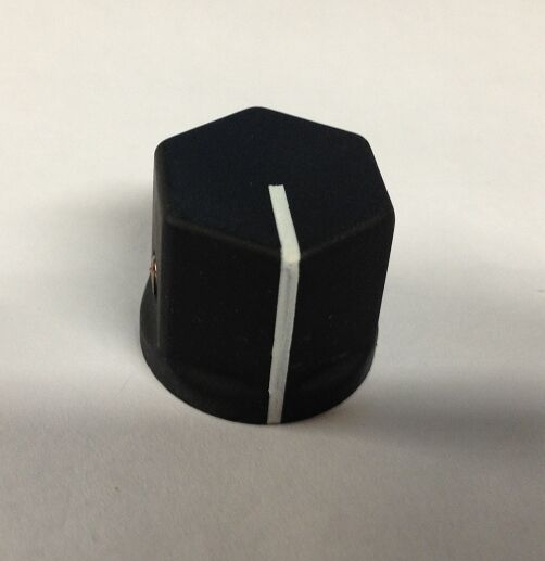 """EHC Control Knobs Part number 27-00639-0 Black Knob with White Line 1/4"""" NOS"""