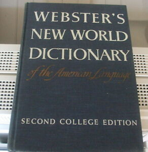 Webster's New world Dictionary of the American Language ENGLISH