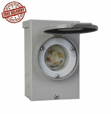 Reliance Controls Pb-30 Generator Power Cord Inlet Box 30 Amp New