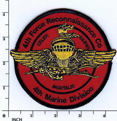 USMC 4th Force Reconnaissance Company PATCH 4th MarDiv Marines ! 4th Force Recon ()