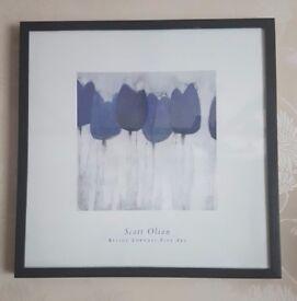 Wood framed Scott Olson print