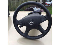 2008 Mercedes c class w204 steering wheel with airbag and collum
