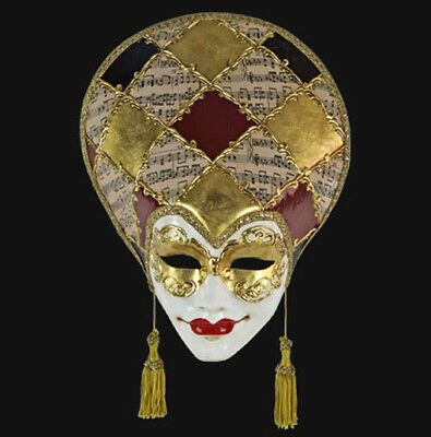 Mask from Venice Volto Liberty Musica Black Golden in Paper Mache 1722