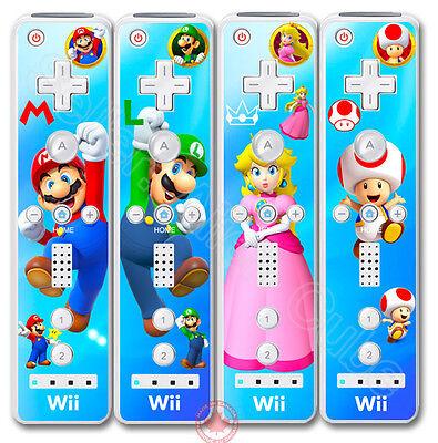 Princess Peach Luigi (Super Mario Luigi Princess Peach Toad Skin Sticker Cover for Nintendo Wii)