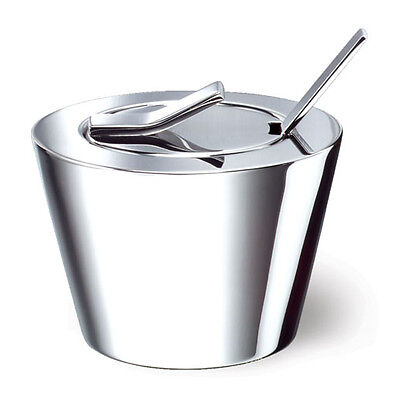 WELL Sugar Bowl with Lid and Spoon, Stainless Steel Condiment Server, NEW