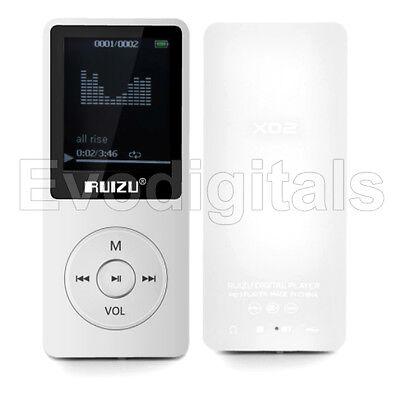 NEW EVO RUIZU WHITE 8GB LOSSLESS MP3 MP4 PLAYER MUSIC VIDEO FM TUNER 80 HR PLAY