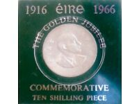 Irish commemorative ten shilling coin