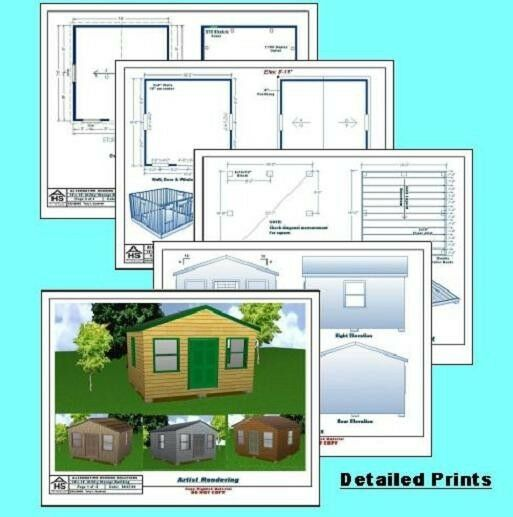 Storage Shed / Utility Building using my easy to read Plans Package
