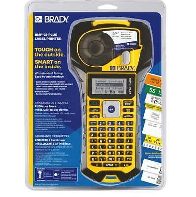 Brady Bmp21-plus Handheld Label Printer With Rubber Bumpers Multi-line Print 6