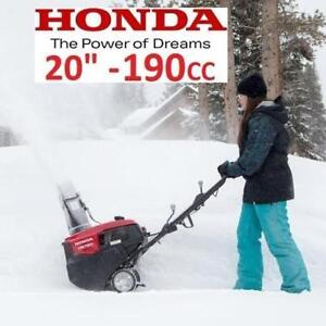 "NEW HONDA GAS SNOW BLOWER 20"" HS720AS 213456094 190CC ELECTRIC START SINGLE STAGE SNOW THROWER"