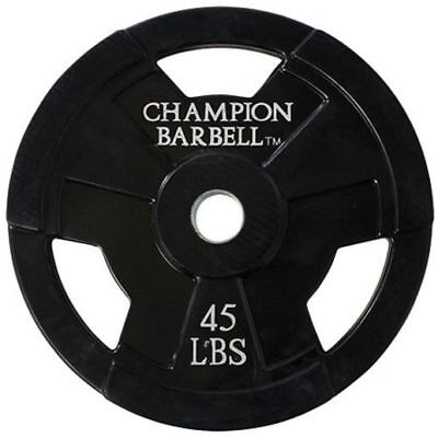 Champion 45 lb Olympic Barbell Weight Lifting Grip Plates (Single) New