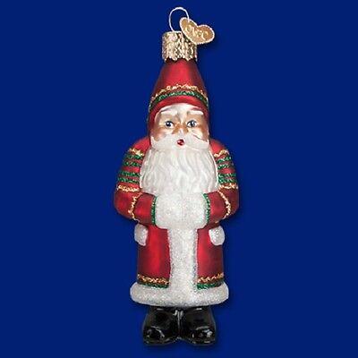 """Ric-Rac Santa"" (40274) Old World Christmas Glass Ornament"